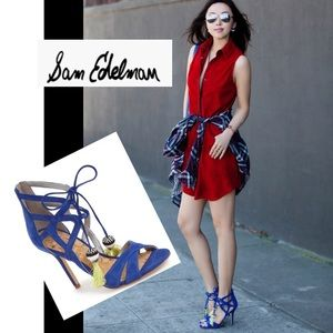 (Sam Edelman) Azela size 7 royal blue suede